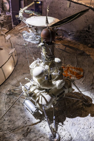 宇宙飛行士記念博物館 内部 月面探索
