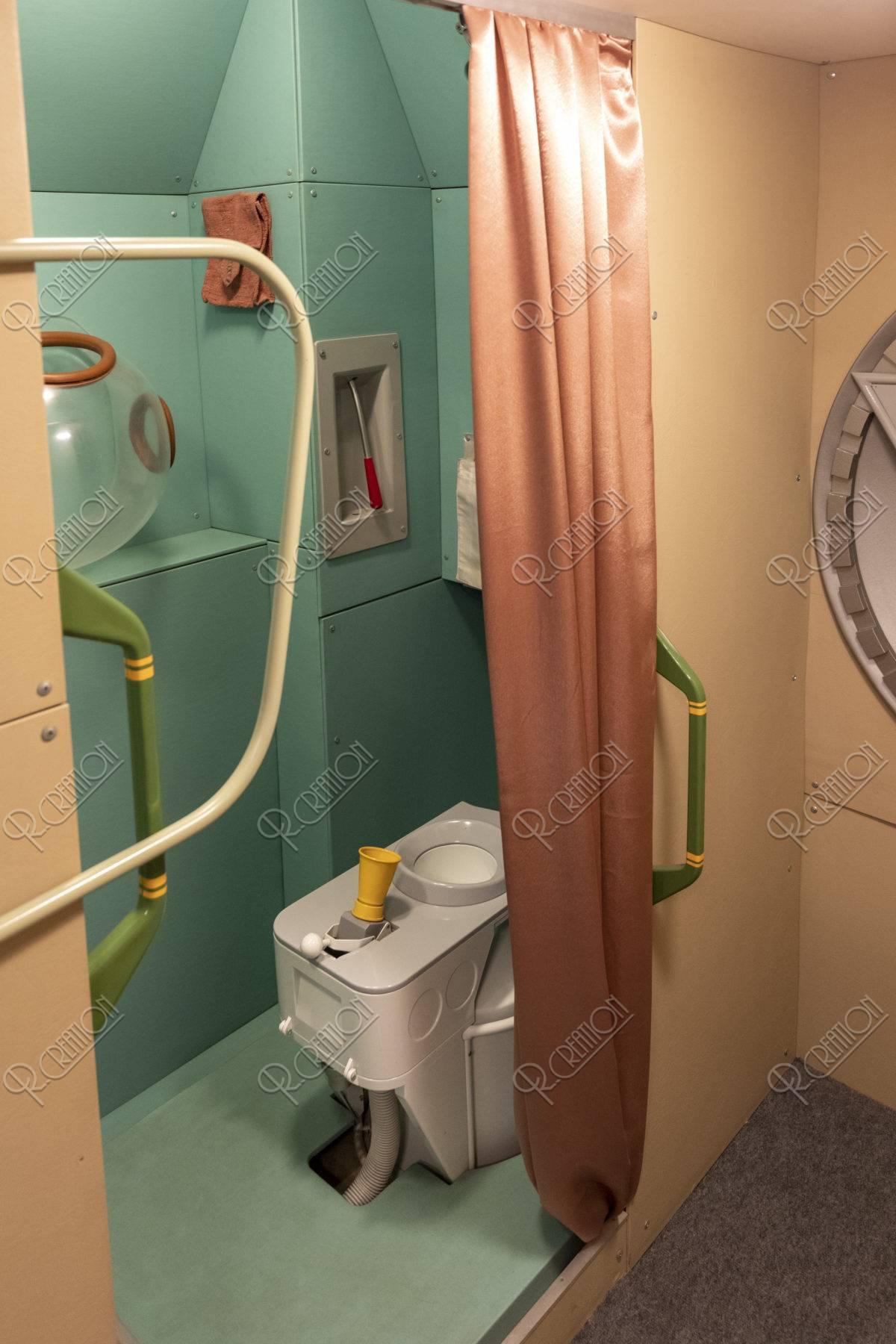 宇宙飛行士記念博物館 内部 トイレ