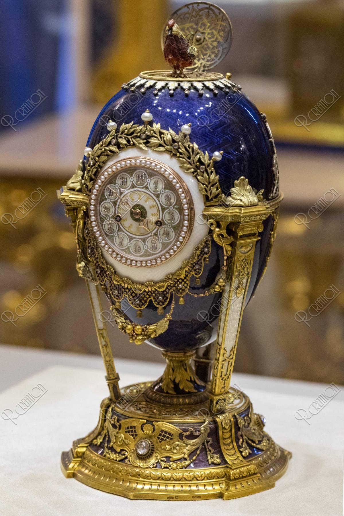 ファベルジェ博物館 イースターエッグ おんどりの時計