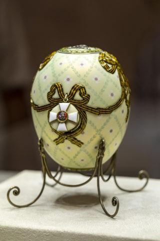 ファベルジェ博物館 イースターエッグ 聖ゲオルギ勲章
