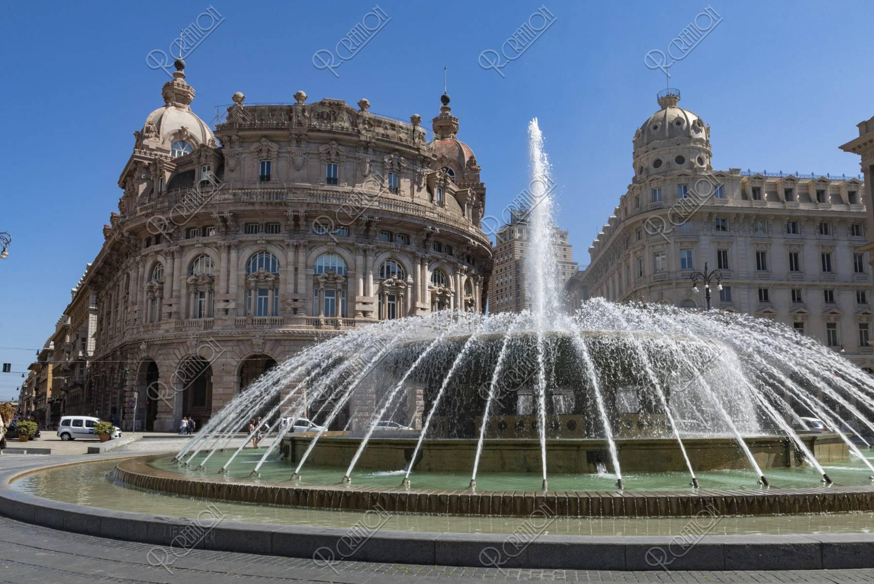 フェラーラ広場 噴水