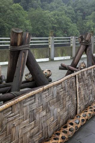 都江堰 堰の模型