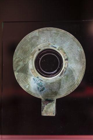 金沙遺址博物館 銅帯柄有領璧形器