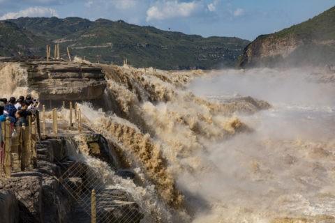 陝西省側からの壺口瀑布