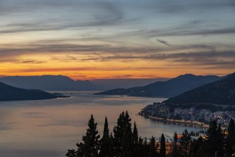 アドリア海の夕焼け