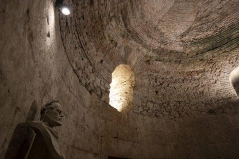 ディオクレティアヌス宮殿 ディオクレティアヌスの胸像