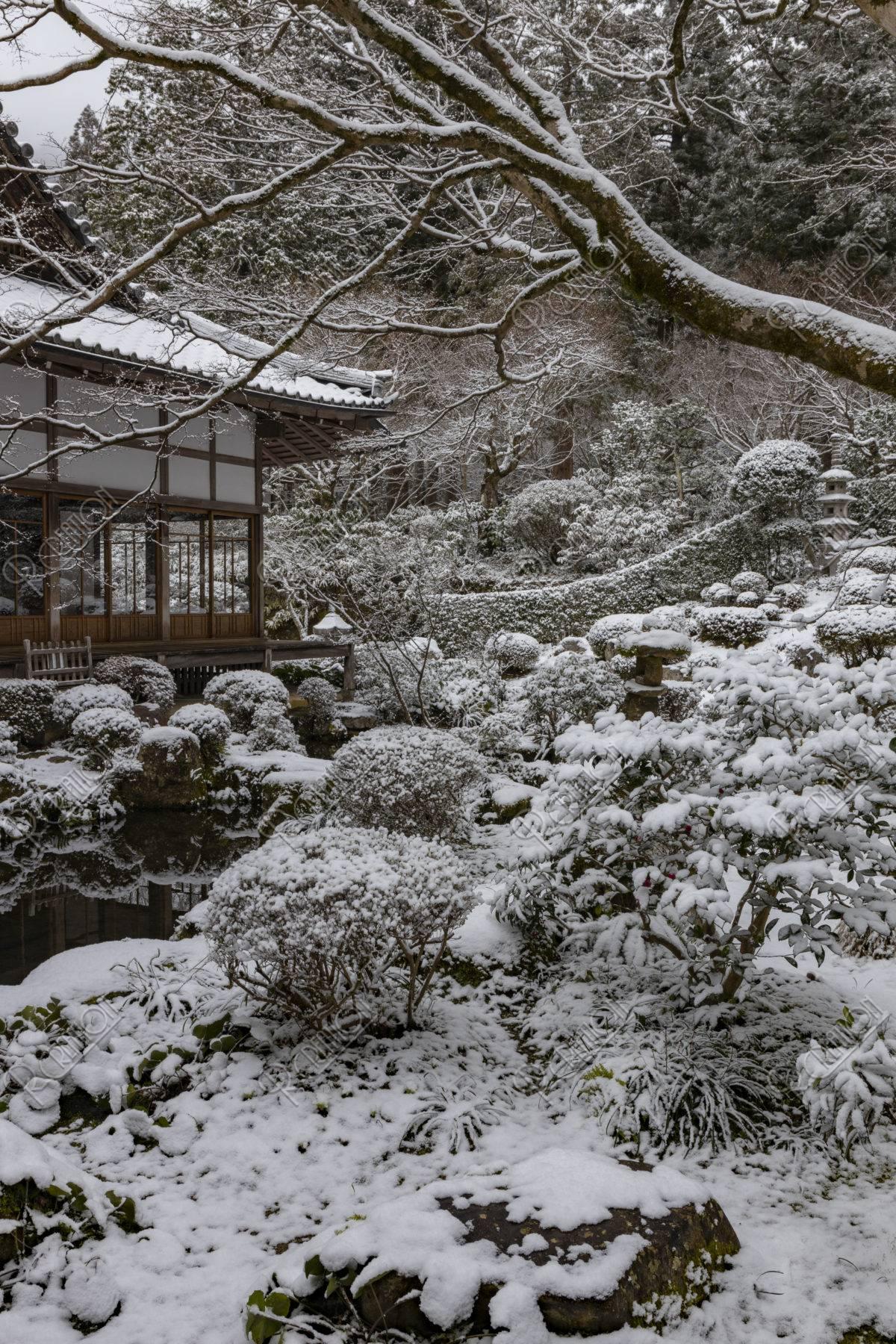 雪の三千院 聚碧園