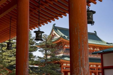 平安神宮 回廊と応天門