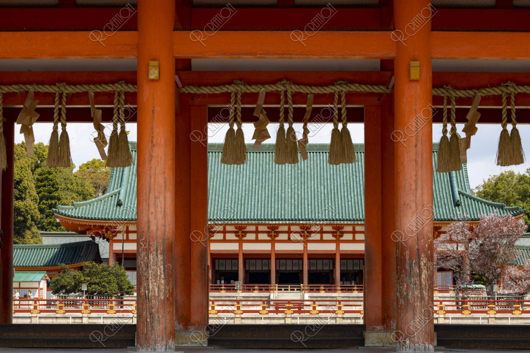 平安神宮 応天門と大極殿