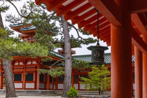 平安神宮 蒼龍楼と回廊
