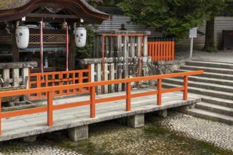 下鴨神社 井上社と御手洗川