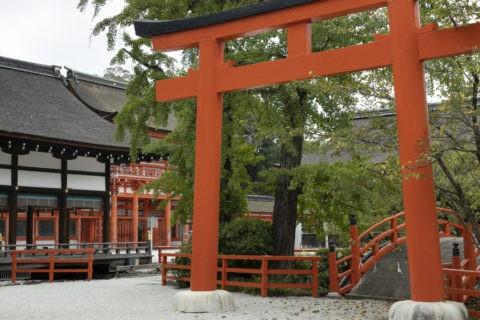 下鴨神社 鳥居と楼門