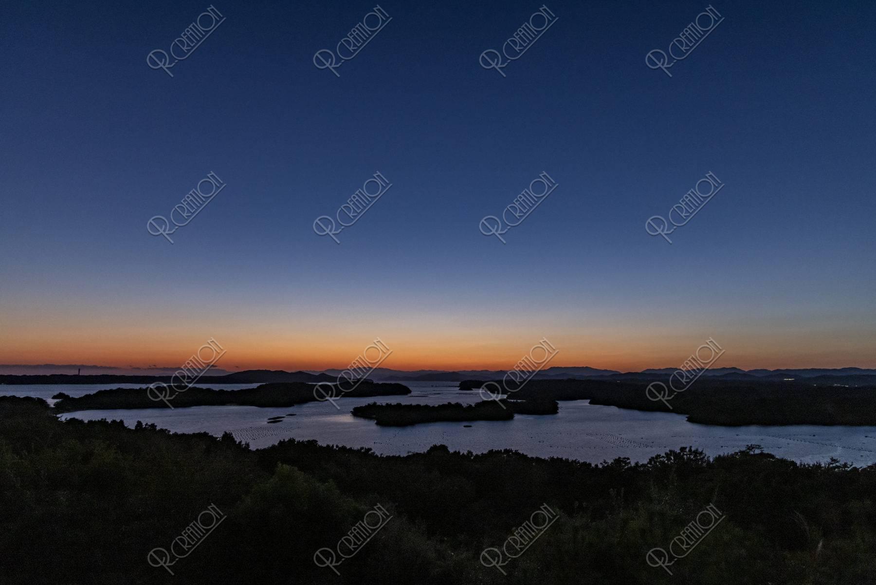 登茂山からの英虞湾夕照