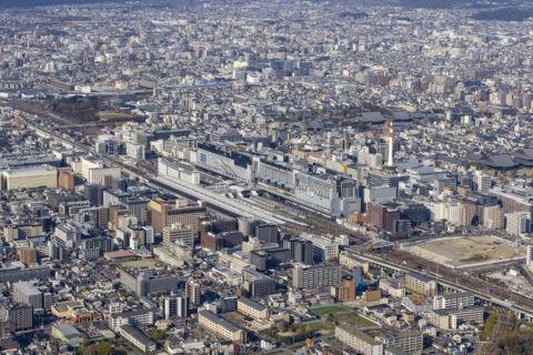 空撮 京都駅八条口