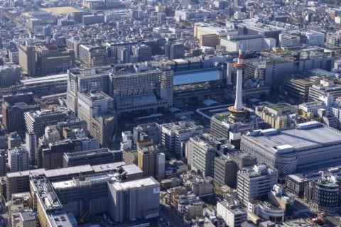 空撮 京都駅