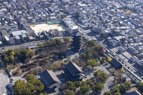 空撮 東寺