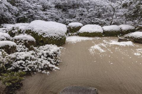 雪の詩仙堂庭園