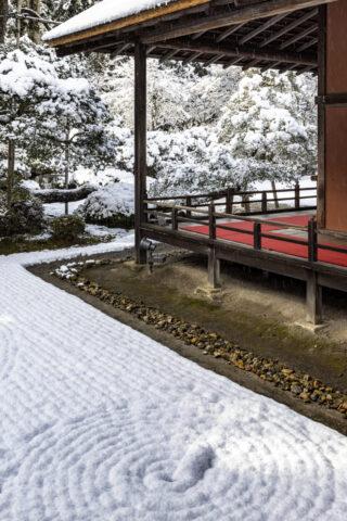 雪の曼殊院庭園