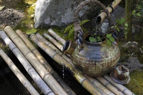 土瓶の蹲踞