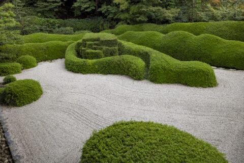 大池寺 皐月の刈込庭園